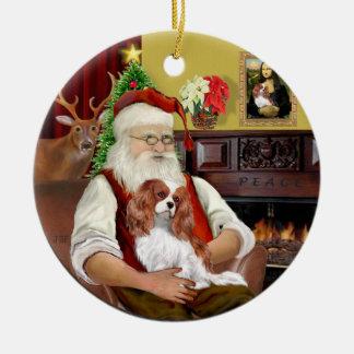 Santa's Blenheim Cavalier Ceramic Ornament