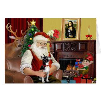 Santa's Boston Terrier Card