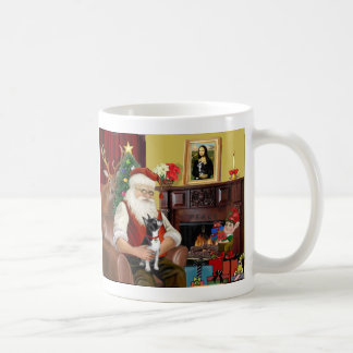 Santa's Boston Terrier Classic White Coffee Mug
