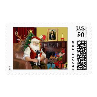 Santa's Boston Terrier Postage