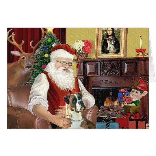 Santa's Boxer (natural ears) Card