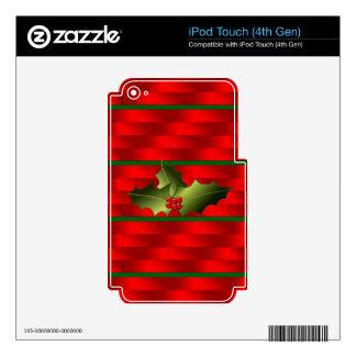Santa's Bricks and Mistletoe on iPod Touch Skin