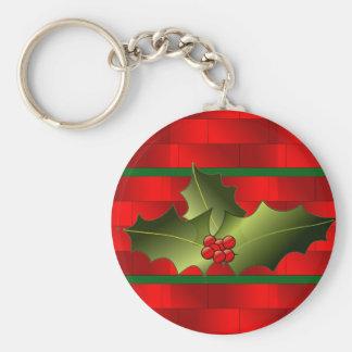 Santa's Bricks and Mistletoe on Keychain