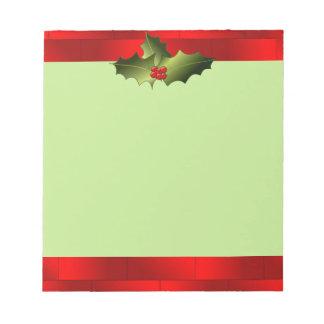 Santa's Bricks with Mistletoe Notepad