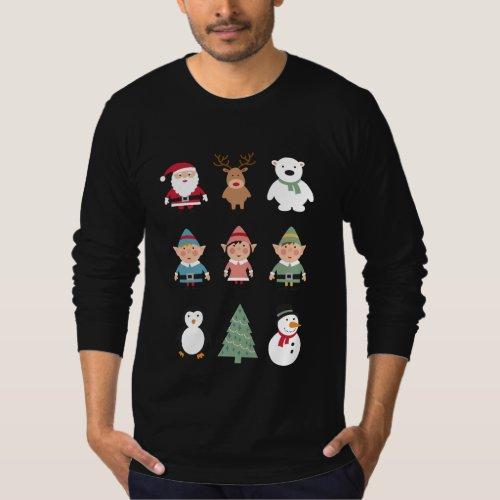 Santa's buddies funny ugly Christmas sweater After Christmas Sales 2314