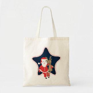 Santa's Buddy Budget Tote Bag