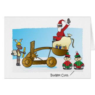 Santa's Budget Cuts Greeting Cards