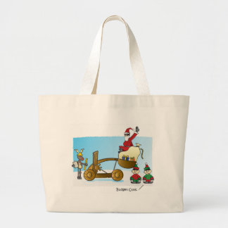 Santa's Budget Cuts Large Tote Bag