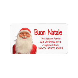 Santa's Buon Natale Christmas label