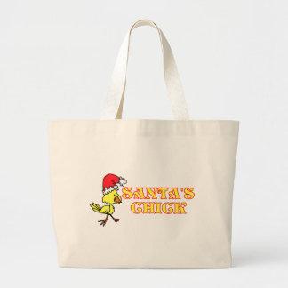 Santas Chick Large Tote Bag