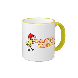 Santas Chick Ringer Coffee Mug