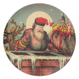 Santa's Chimney Dinner Plate