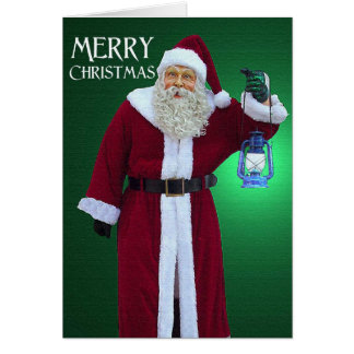 Santa's Christmas Light Greeting Card