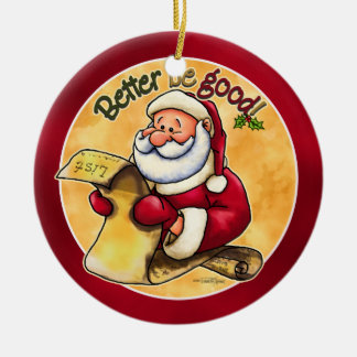 Santas Christmas List - Ornament