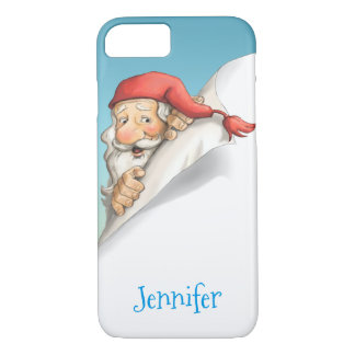 Santa's Christmas List with Monogram iPhone 7 Case