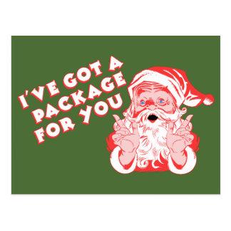 Santas Christmas Package Postcard