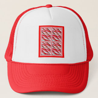 Santa's Christmas Peppermint Candy By Sharles Trucker Hat
