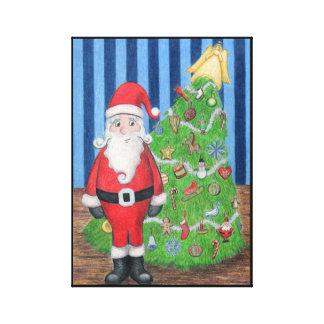 Santa's Christmas Portrait Canvas Print