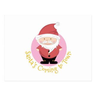 Santas Coming Postcard