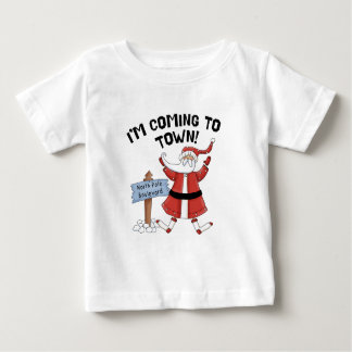 Santa's Coming to Town Baby Clothes T Shirt