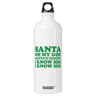 Santa's Coming Water Bottle