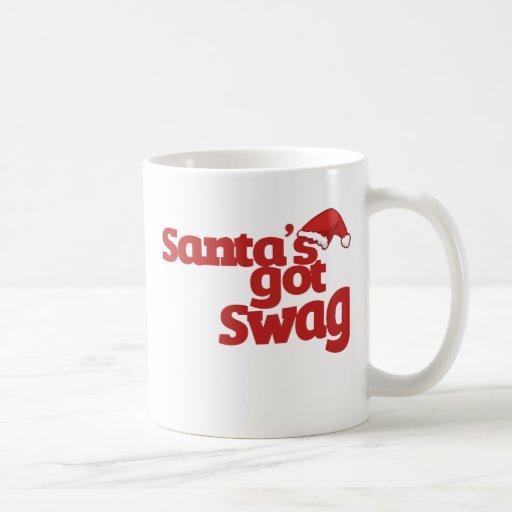 Santas consiguieron el Swag Taza Básica Blanca