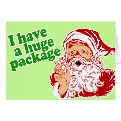 Santas consiguieron un paquete enorme felicitación