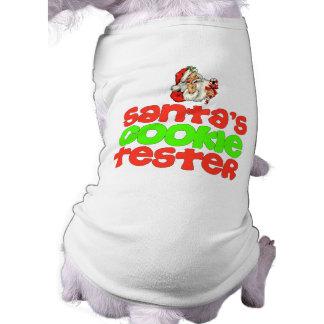 Santa's cookie tester Christmas dog shirt
