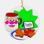 SANTA'S COOKIES CHRISTMAS TREE ORNAMENTS