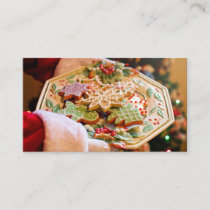 Santa's Cookies on a Plate Business Card