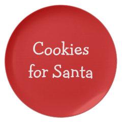 Santas Cookies Party Plate
