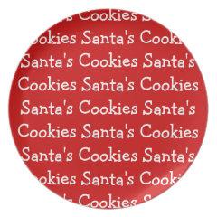 Santas Cookies Plates