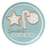 Santa's Cookies Sugar Cookie Trio Plate