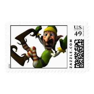 Santa's Crazy Elf Stamp