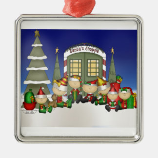 Santa's Crew Metal Ornament
