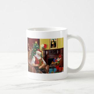 Santa's Dachshund (b/r) Coffee Mug