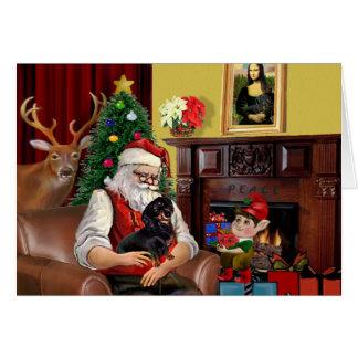 Santa's Dachshund (BT) Card