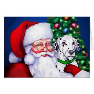 Santa's Dalmatian at Christmas Greeting Cards