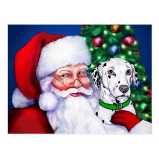 Santa's Dalmatian at Christmas Postcards