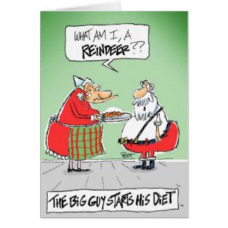 Santa's Diet Cartoon Christmas Card