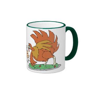 santas dinner coffee mugs