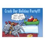 Santa's Elephants Holiday Party Invitations