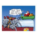 Santas Elephants Holiday Postcard
