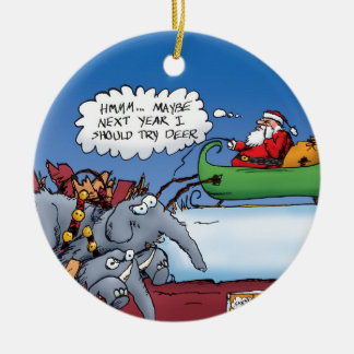 Santa's Elephants Ornament