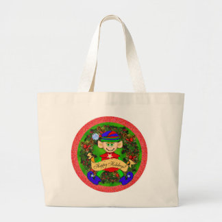 Santas' Elf Jumbo Tote Bag