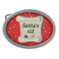 Santa's elf belt buckle