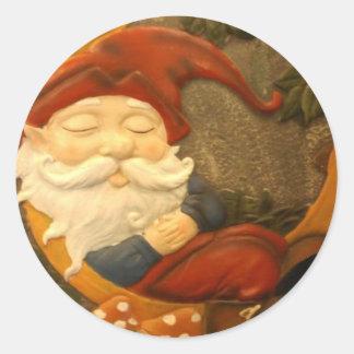Santa's Elf Classic Round Sticker