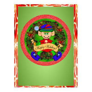 Santas' Elf Greeting Cards Post Card