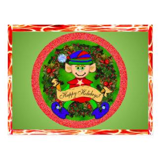 Santas' Elf Greeting Cards Postcard