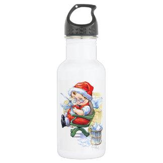 Santas Elf in Chair 18oz Water Bottle